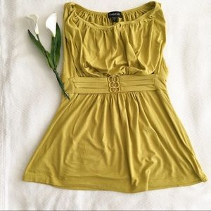 Bebe Olive Green Sleeveless Top